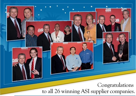 Congratulations to all 26 winning ASI supplier companies.