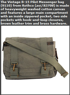 Vintage B-15 Pilot Messenger Bag