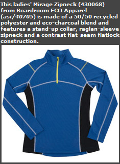 Ladies' Mirage Zipneck