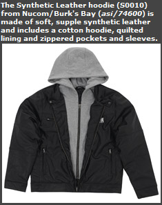 Synthetic Leather Hoodie
