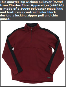 Quarter Zip Wicking Pullover