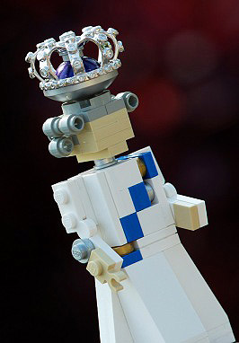 Queen Elizabeth II Royal Jubilee Lego Figure