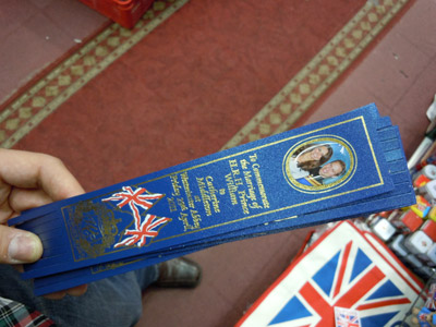 Royal Wedding Bookmark