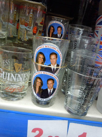 Royal Wedding Shot Glass