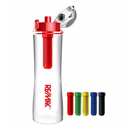 Water bottle with carbon filter