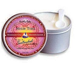 Body wax massage candles
