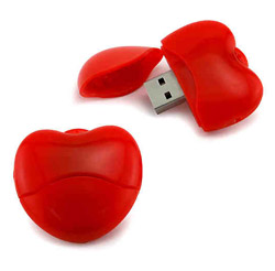 Red Heart USB Drive