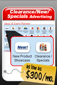 Clearance/New/Specials Advertising