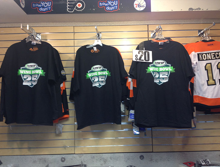 Wing Bowl 25 Shirts