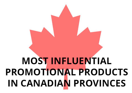 Most Influential Promo Products in Canadian Provinces