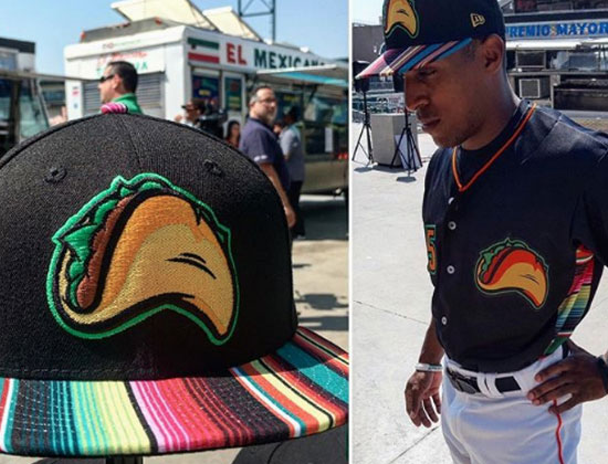 """The Tacos this year are wearing colorful """"zarape""""-inspired hats and jerseys. 43e1b2bd6a6"""
