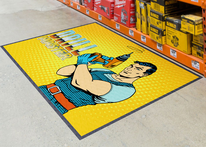 3 successful point of purchase caigns using logo mats