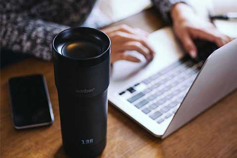 Consider Lukewarm Coffee Defeated With This Techy Tumbler