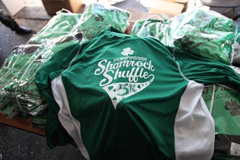 Swag From the Saint Patrick's Day Shamrock Shuffle
