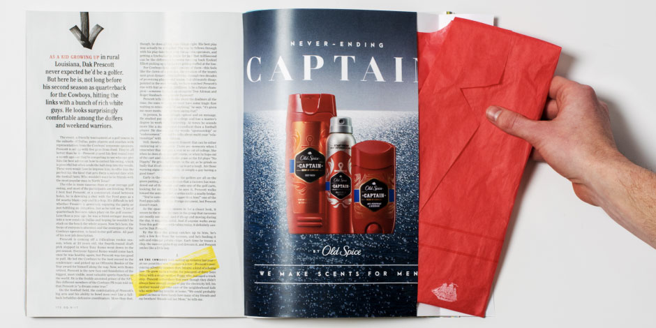 Old Spice Offers Scented Paper Blazer to GQ Subscribers