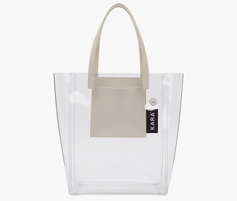 You Can Still Get In On The Namebrand Clear Tote Trend For A Relatively Reasonable Price