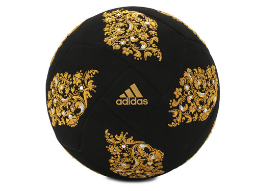 49d15232d18 It's made from a black, velvety fabric that's covered in golden flowers  done in the design of traditional Russian embroidery – a nod to the ...