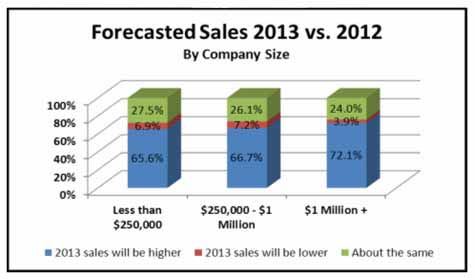 Sales Forecast 2014 vs. 2013 By Company Size