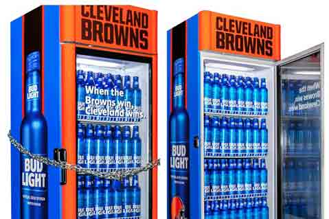 Bud Light-Branded Fridges Will Give Free Beer If Cleveland Browns Win