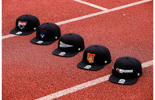 1d91a4ae Snapback flat-bill caps from '47's HBCU capsule collection. Available here.