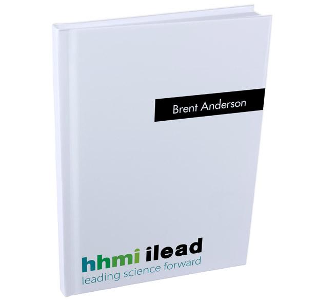 White hard-bound journal