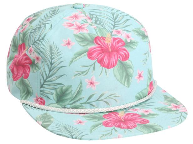 Hawaiian print cap
