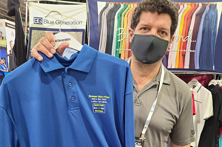 Michael Reisbaum of Blue Generation recommends steering clients toward core products, like the supplier's Avenger polo.
